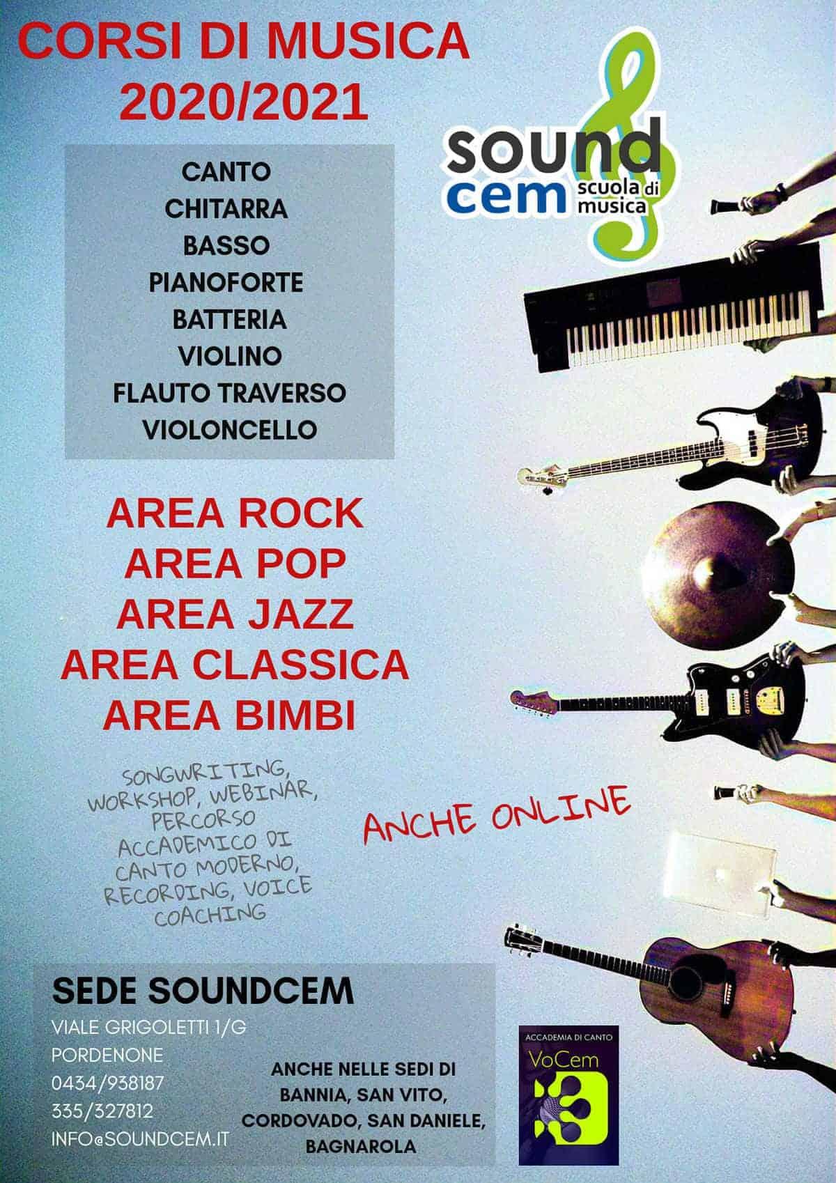 CORSI DI MUSICA PORDENONE 2020/2021